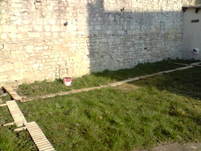 Coté mur du fond