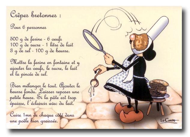 Cr pes bretonnes il tait une fois un jardin - Recette de cuisine drole ...