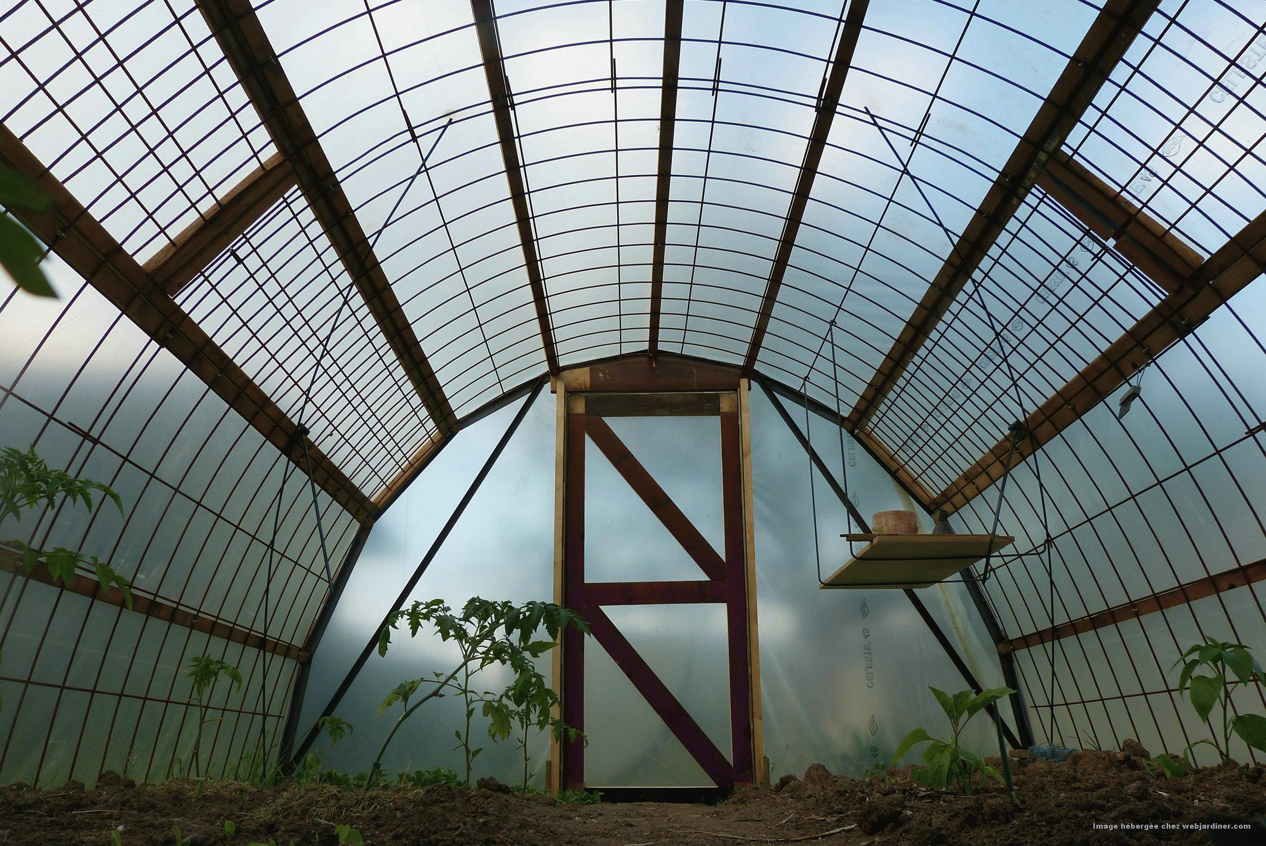 Fabriquer Treillis Bois Pour Plantes Grimpantes serre] tutoriel: construction serre économique treillis